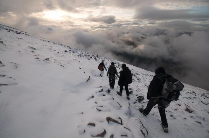 Me on Ben Nevis, courtesy of George Byrom