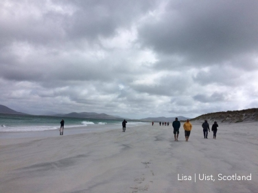 Lisa Montieth North Uist on a surf tour today